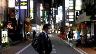 Le quartier commerçant et d'amusement de Ginza à Tokyo, le 2 avril 2020.