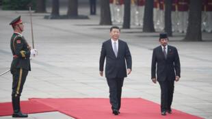Chủ tịch Trung Quốc Tập Cận Bình và quốc vương Brunei Hassanal Bolkiah tại Bắc Kinh ngày 13/09/2017.