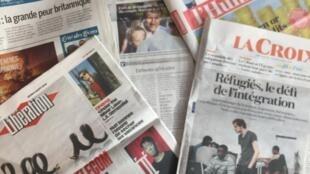 Primeiras páginas dos diários franceses 9-08-2018