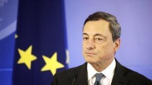 Mario Draghi, el presidente del Banco Central Europeo.