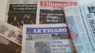 Primeiras páginas dos jornais franceses de 07 de junho de 2019