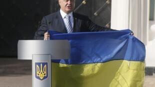 Petro Porochenko, presidente ucraniano, durante cerimônia do Dia da Independência , em Kiev, em 23 de agosto de 2015.