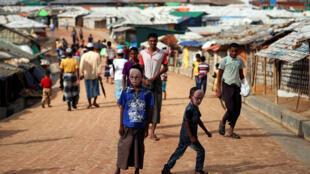 Trẻ em Rohingya tại trại Kutupalong- Bangladesh. Ảnh ngày 22/08/2018.