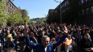 Масштабные акции протеста в Армении продолжаются уже шестой день