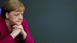 德國總理默克爾5月16日在柏林