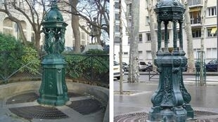Wallace fountains abound in Paris