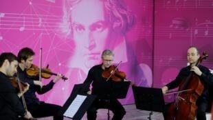 Một cuộc biểu diễn trước lễ mừng sinh nhật 250 tuổi của Beethoven. Ảnh tại Bonn, Đức, ngày 13/12/2019.