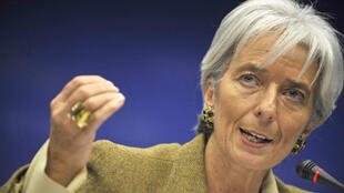French Minister of Finance Christine Lagarde, at a press conference in Brussels, 2 decembre 2008.