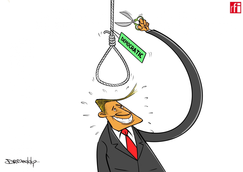 Shugaba Donald Trump bai razana ba kan shirin Majalisar kasar na tsige shi ( 19/12/2019).