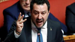 O ex-ministro do interior Matteo Salvini será julgado por bloqueio de migrantes, após autorização do Senado da Itáalia nesta quarta-feira, 12 de fevereiro de 2020