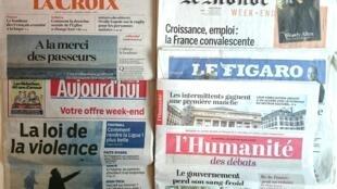 Os jornais franceses desta sexta-feira, dia 29 de Abril