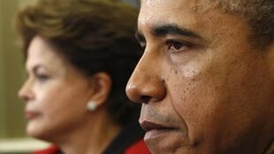 """El gobierno brasileño calificó como """"inadmisible e inaceptable"""" el supuesto espionaje de Estados Unidos a Dilma Rousseff."""