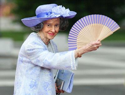 La reine  Fabiola de Belgique à Madrid , le 22 mai 2004.