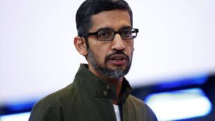 Sundar Pichai, PDG de Google, le 8 mai 2018 à Mountain View, en Californie.