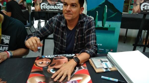 O animador brasileiro Carlos Saldanha participa do Festival de Animação de Annecy.