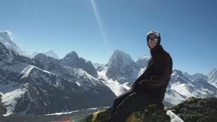 O guia de montanha e trekking Carlos Santalena, de 28 anos.