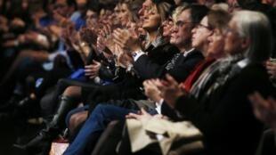 Des sympathisants d'extrême droite au meeting de Louis Aliot, le 31 janvier 2020.