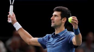 Novak Djokovic became world number one during the Rolex Paris Masters.