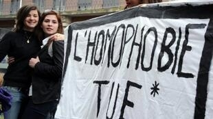Protests after homophobic attack in Paris