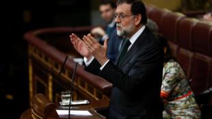 Mariano Rajoy admitiu derrota minutos antes do voto da moção de censura no Parlamento