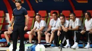 Joachim Loew, seleccionador da Alemanha. Jogo contra a Coreia do Sul. Kazan. 27 de Junho de 2018.