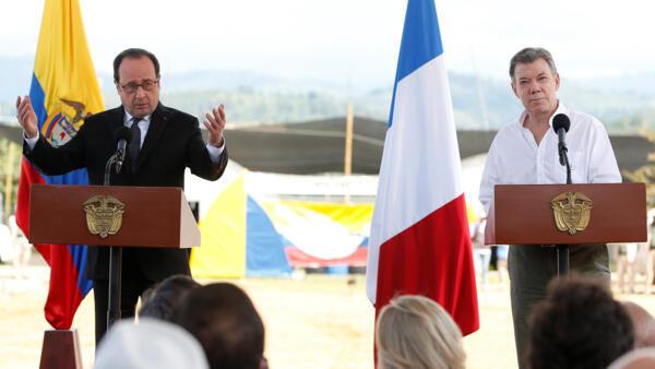 Discurso de los presidentes Hollande y Santos en el municipio de Caldono, departamento del Cauca, 24 de enero de 2016.