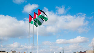 Palestinian flags