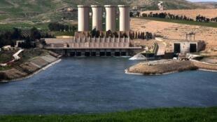 Le barrage de Mossoul sur les bords du fleuve Tigre, le 29 février 2016.