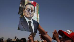 Manifestaciones anti Mubarak.