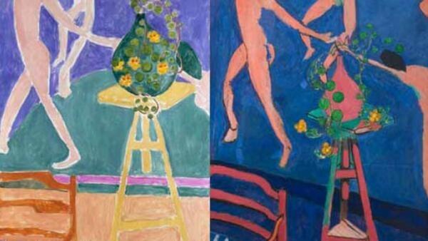 """Diferentes versões sobre um mesmo tema são confrontados na exposição """"Matisse, Pares e Séries""""."""