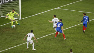 'Antoine Griezmann, un cabezazo al minuto 90