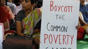 A protest over the Commonwealth Games