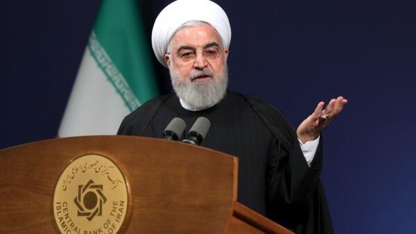 El presidente Iraní, Hassan Rouhani en la capital Teherán, 16 enero  2020.