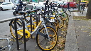Bicicletas da oBike chegaram em Paris em meados de novembro de 2017.