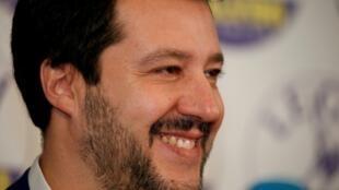 O vice-premiê e ministro do Interior da Itália, Matteo Salvini, líder do partido de extrema-direita ultranacionalista Liga.