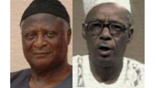 Bernard Achuo Muna (G) et Garga Haman Adji (D), deux candidats à la présidentielle camerounaise.