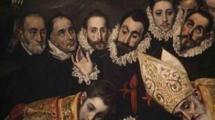 """Detalhe de """"O Enterro do Conde de Orgaz"""", uma das obras expostas em Toledo"""