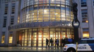 Tribunal federal de Brooklyn donde empezó el juicio del 'Chapo, este 13 de noviembre de 2018 en Nueva York.