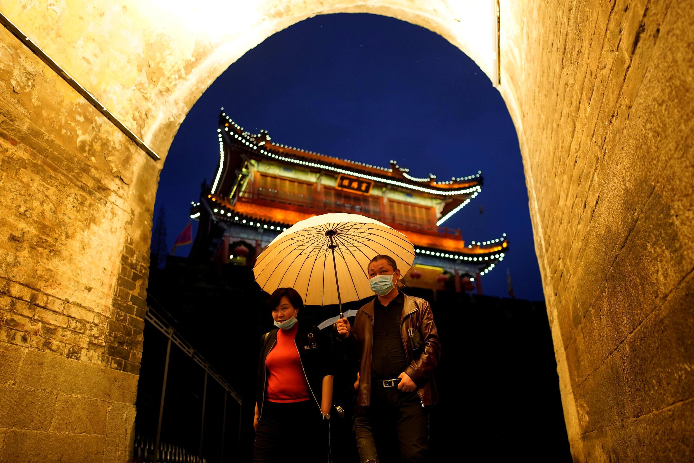 Старый город в Цзинчжоу, провинция Хубэй, Китай. 26 марта 2020