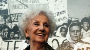 Estela de Carlotto, presidente da associação Avós da Praça de Maio.
