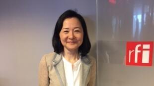 La romancière japonaise Yôko Ogawa en studio à RFI (avril 2018)