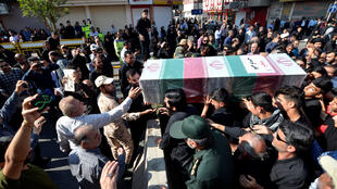 Funeral de las víctimas del atentado de Ahvaz, Irán, este 24 de septiembre de 2018.