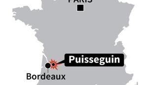 Puisseguin, near Bordeaux, where the accident took place