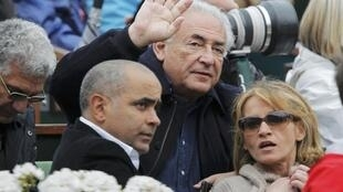 Strauss-Kahn at the French Open, June 2013