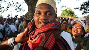 Ikililou Dhoinine, le président élu des îles Comores à Moheli, 11 novembre 2010.