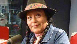 Margot Palomino en los estudios de RFI