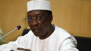 Chadian President Deby attends a news conference at the close of the Assembly of the African Union at the AU headquarters in Addis Ababa, January 31 2016