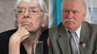 Людмила Алексеева и Лех Валенса