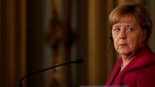 Angela Merkel lors de sa visite à Lisbonne le 31 mai 2018.