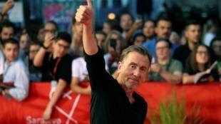Tim Roth a reçu le cœur de Sarajevo, distinction honorifique, lors du 25e Festival du Film de la capitale de Bosnie-Herzégovine, le 20 août 2019.